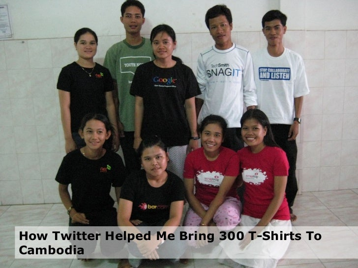 How Twitter Helped Me Bring 300 T-Shirts To Cambodia