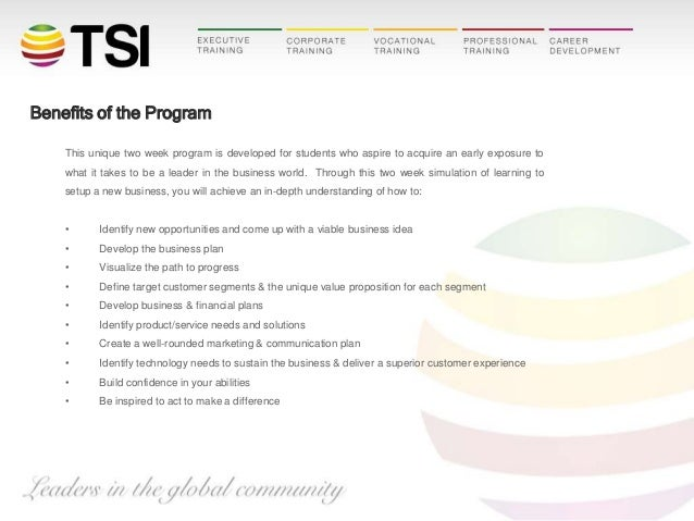 Benefits of the Program This unique two week program is developed for students who aspire to acquire an early exposure to ...