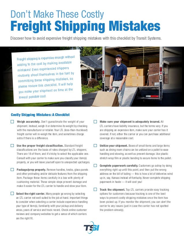 Don't Make These Costly Freight Shipping Mistakes Discover how to avoid expensive freight shipping mistakes with this chec...