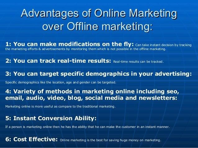 Online Marketing - Advantages & Methods Redefined Slide 3