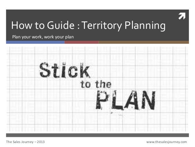 Territory Planning  The Sales JourneyCom