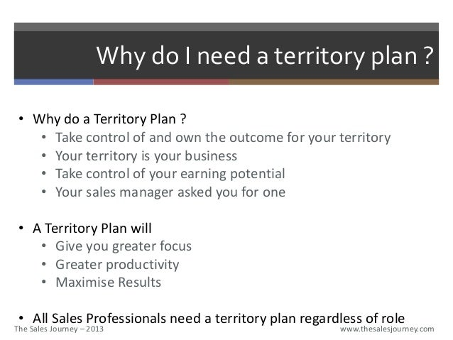 Attractive ... 2. Why Do I Need A Territory Plan ?