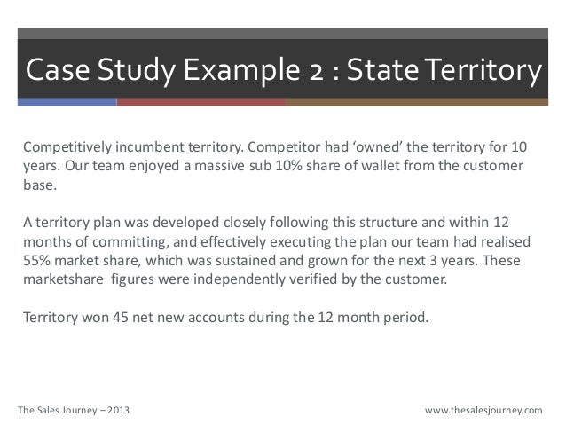 Territory Planning - The Sales Journey.com