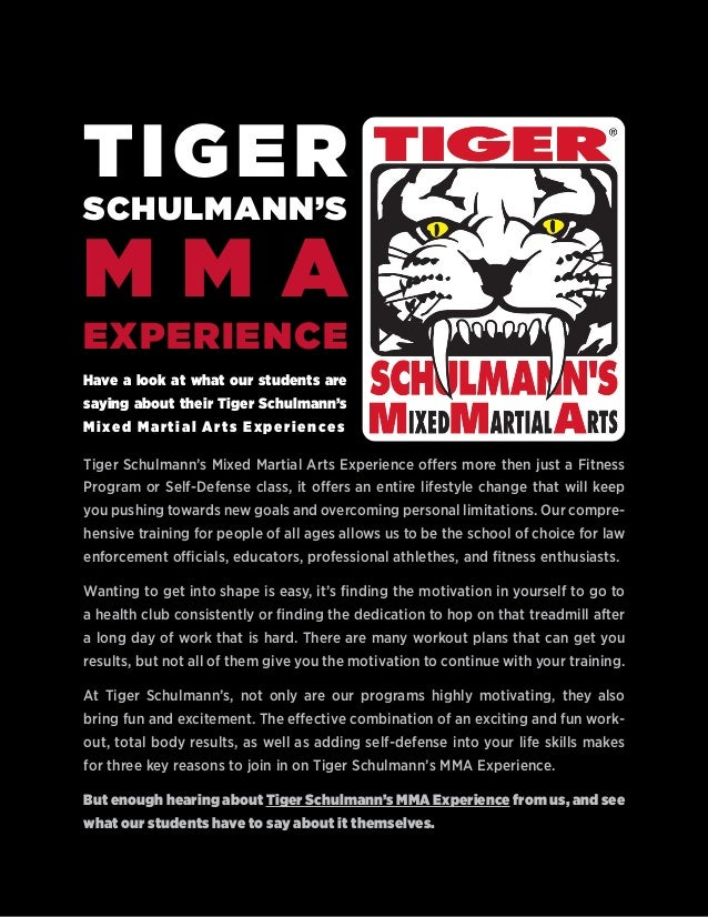 Have a look at what our students are saying about their Tiger Schulmann's Mixed Martial Arts Experiences Tiger Schulmann's...