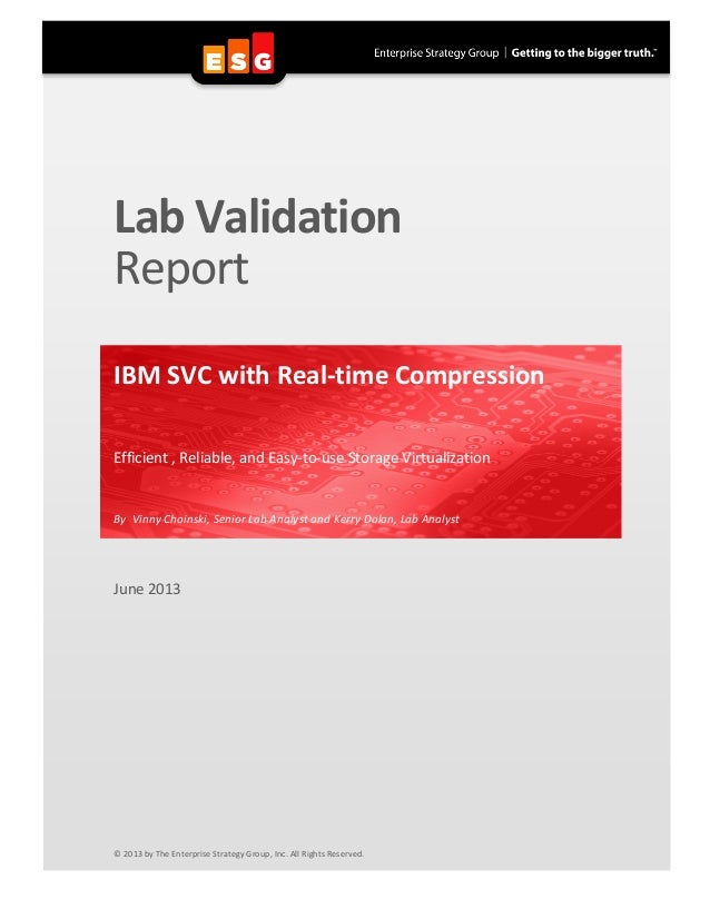 IBM SVC with Real-time Compression