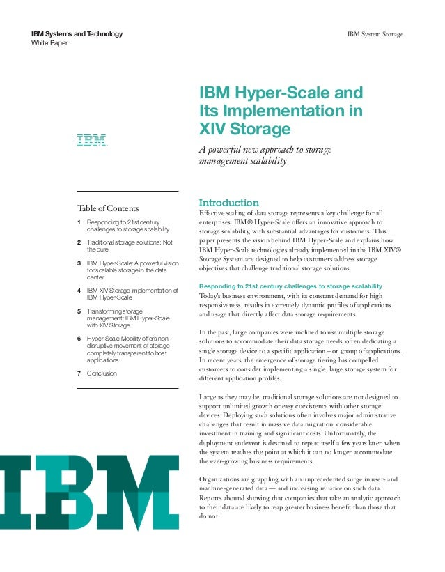IBM Hyper-Scale and Its Implementation in XIV Storage