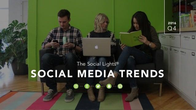 2016 The Social Lights® SOCIAL MEDIA TRENDS Q4