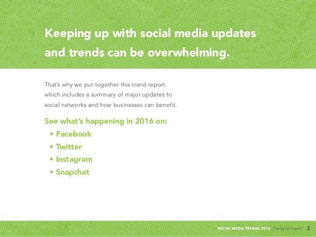 Q1   2016 Social Media Trends Report Slide 2