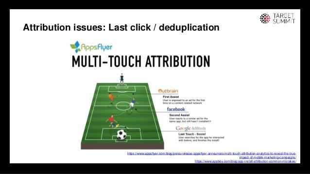 23 23 Attribution issues: Last click / deduplication https://www.appsflyer.com/blog/press-release-appsflyer-announces-mult...