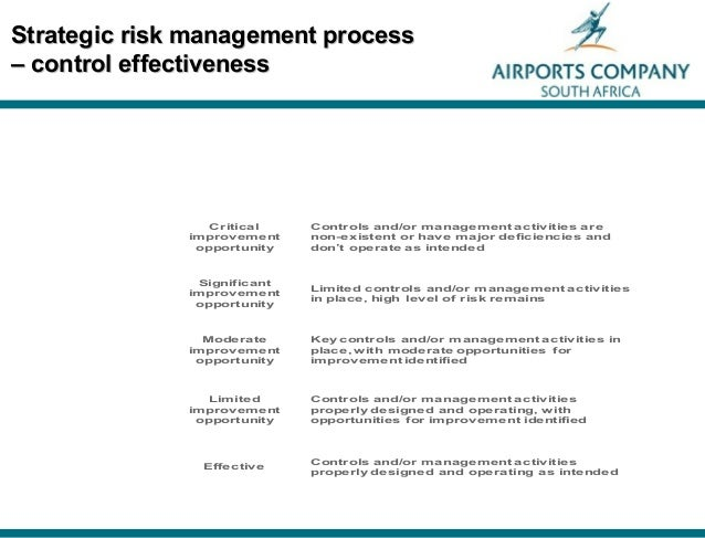 linking risk management to strategic controls Responsibility for strategic risk management  responsibility for operational risk management  any controls put in place to deal with low.