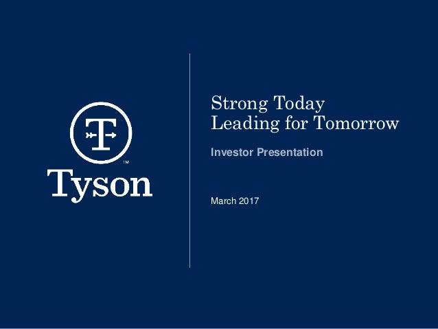 Tsn Investor Presentation March 2017