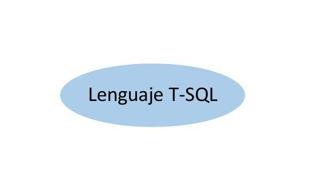 Lenguaje T-SQL