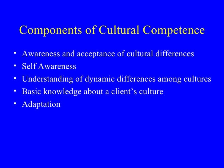 cultural awareness in the healthcare environment In a healthcare setting, cultural competence will allow a healthcare professional  to properly assess a situation and modify individual behaviors.