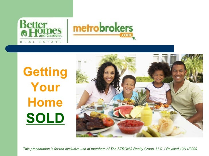 Getting Your Home  SOLD