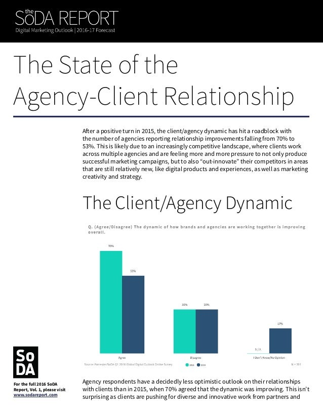 aren't particularly loyal to one shop (see Agency Ecosystems). When we dug deeper, we saw that agencies that provide both ...