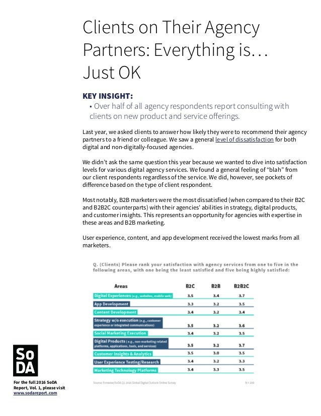 Are Clients Organized for Innovation? For the second year, SoDA asked both clients and agencies for their opinion on clien...