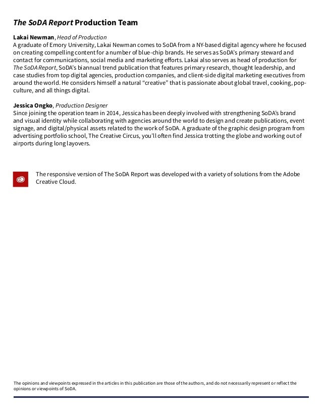 0 Introduction to the Digital Outlook Study 1 Respondent Overview 2 Agency Ecosystems in 2016 3 The State of the Agency-Cl...