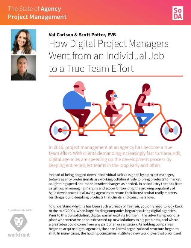 The SoDA Report On    The State of Agency Project Management