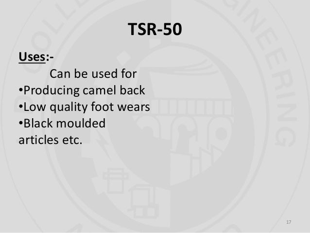Technically Specified Rubbers Tsrs