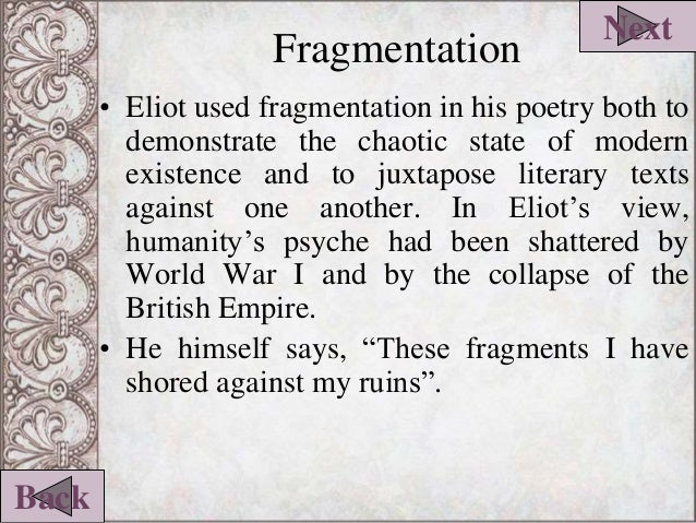 fragmentation in poetry