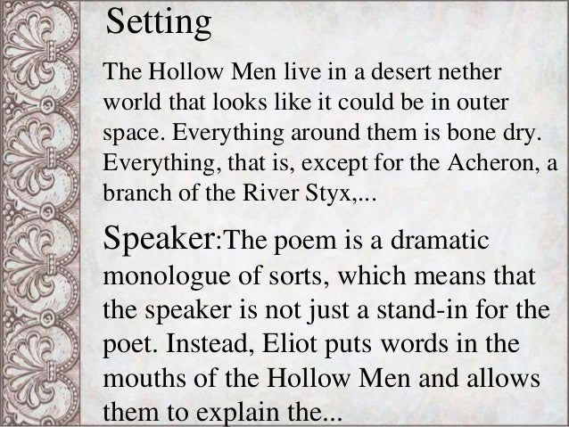 allusions in the hollow men