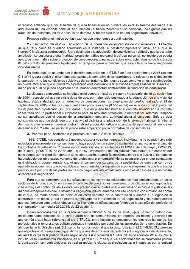 Prestamo personal clausula abusiva tribunal supremo for Clausula suelo tribunal supremo hoy