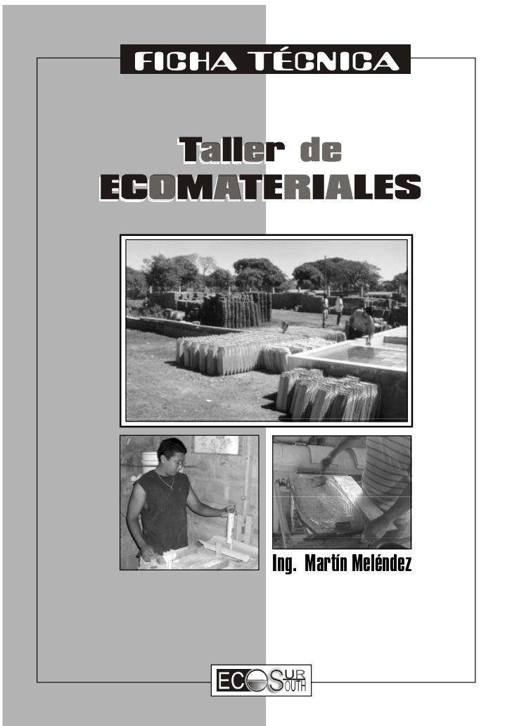 FICHA TÉCNICA      Ing. Martín Meléndez