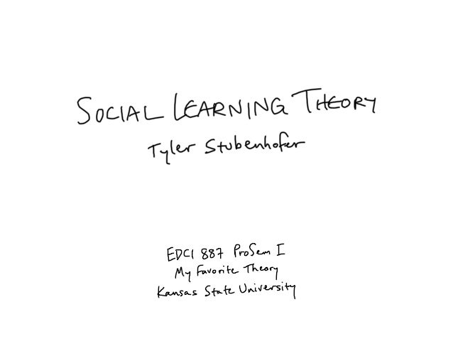 social learning theory in relation to Learning theories attempt to explain how people think and what factors determine their behaviour social learning theory (slt) is a category of learning theories which is grounded in the belief that human behaviour is determined by a three-way relationship between cognitive factors, environmental.