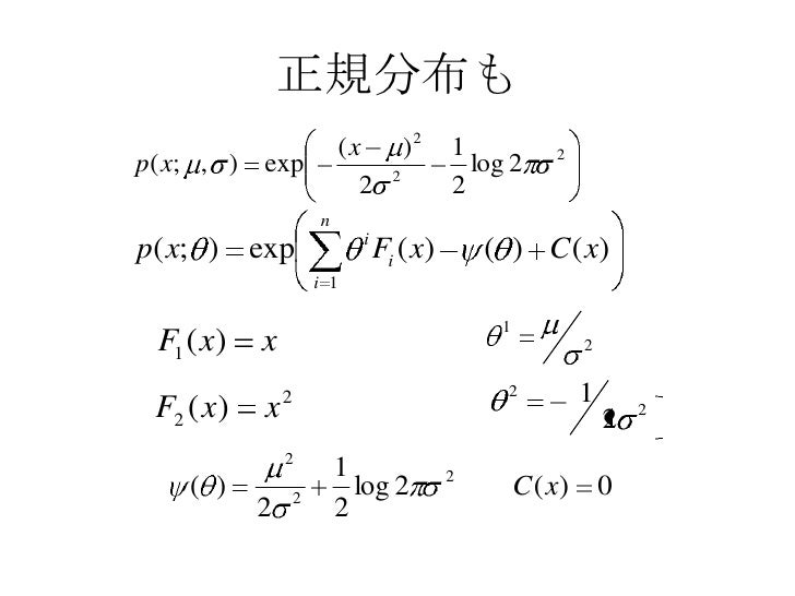 泥縄Rコード<br />パラメータ<br />サンプル数<br />実験回数<br />infogeodemo <- function(p=c(0,1), N=1000, K=100,<br />randfn=rnorm, aEstfn=mea...