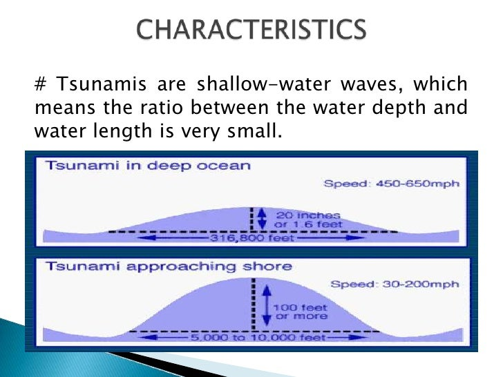 characteristics of the tsunami On march 11th, 2011, the pacific coast of japan was hit by a tsunami generated  by the largest earthquake (m90) in the history of the country and causing a wide .