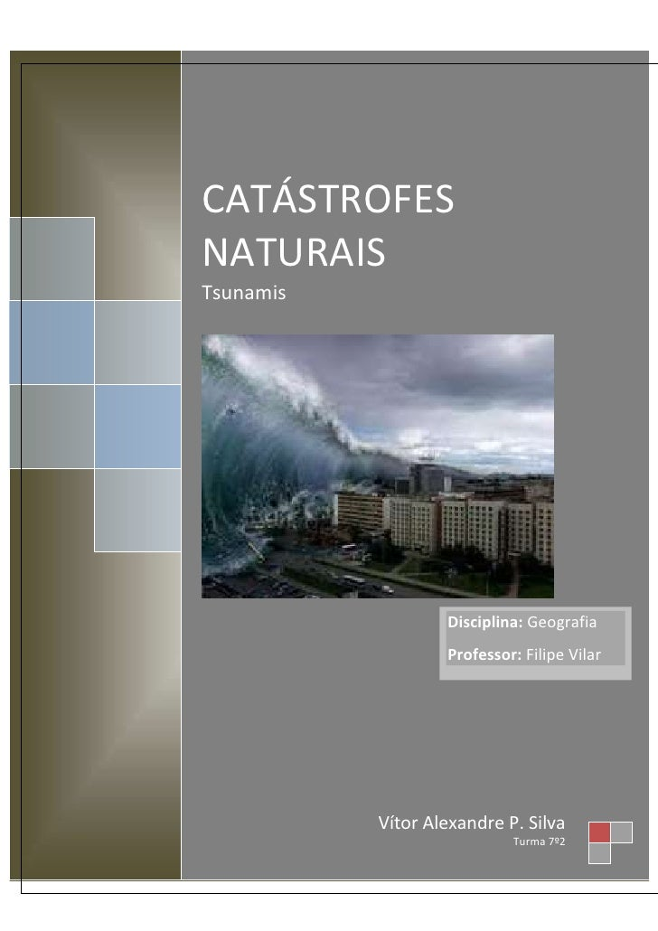 CATÁSTROFESNATURAISTsunamis                   Disciplina: Geografia                   Professor: Filipe Vilar           Ví...