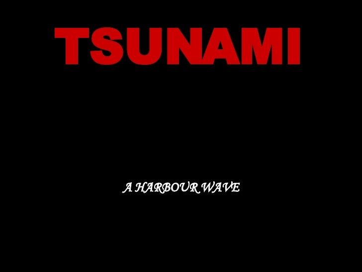 TSUNAMI A HARBOUR WAVE