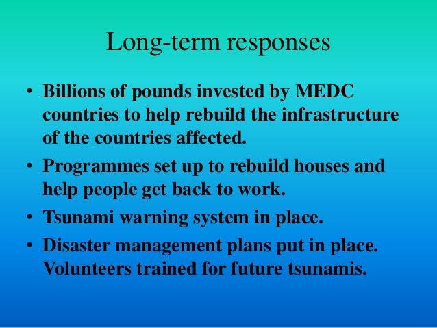 impacts of earthquakes in ledc and medc countries Why are the effects of a hurricane more severe in ledc's fewer weather and earthquake safeguards than a medc country as they do not have.