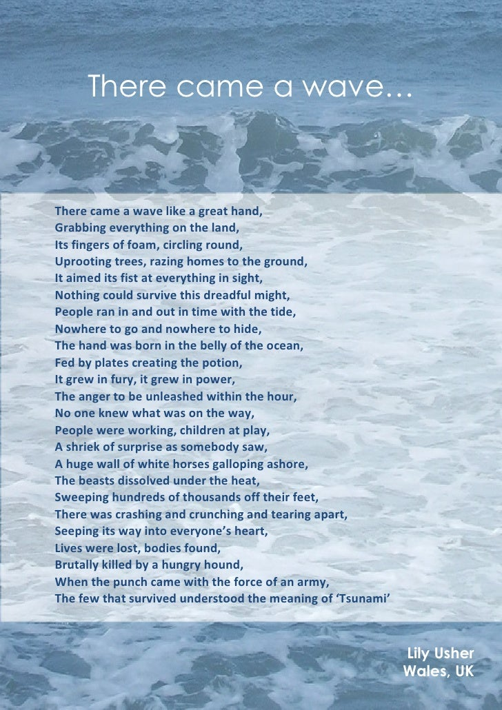 Tsunami Poem - There came a wave ...