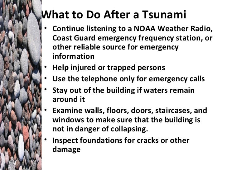 how to help during after a tsunami