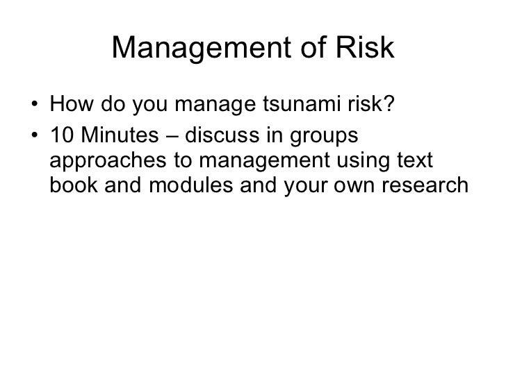 Tectonics: Tsunami risk management