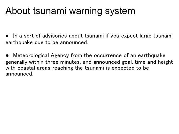 tsunami warning system 4 about tsunami