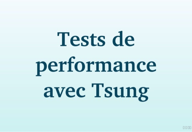 Tests de performance avec Tsung
