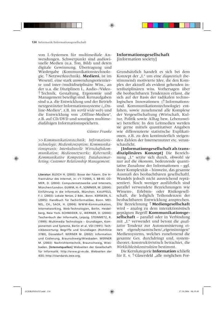 134 Informatik/Informationsgesellschaft              von I.-Systemen für multimediale An-                      Information...