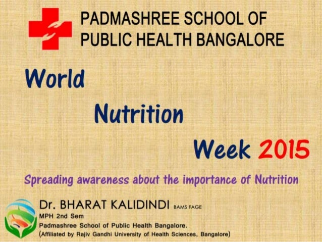Nutrition session for school children