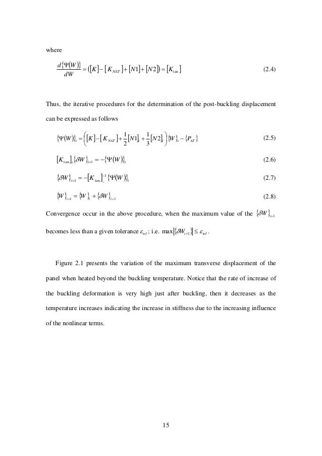 15 where              tan21 KNNKK dW Wd TN    (2.4) Thus, the iterative procedures for the determin...
