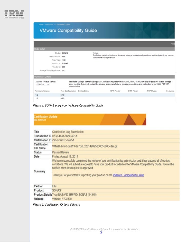 IBM SONAS and VMware vSphere 5 scale-out cloud foundation: A