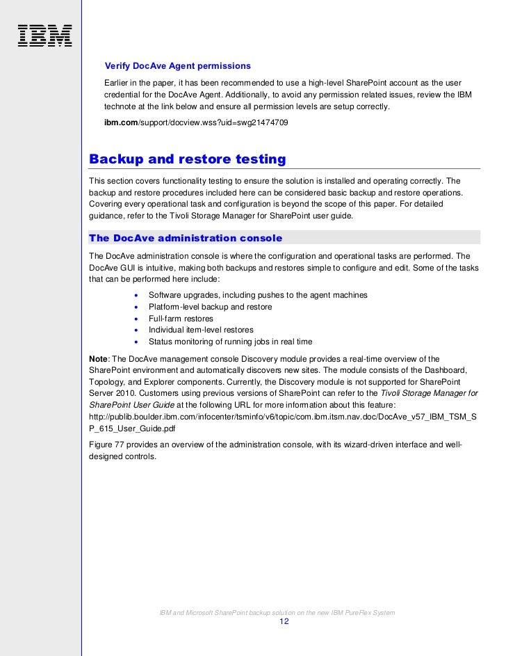 ibm tivoli storage manager for microsoft sharepoint 6 1 5