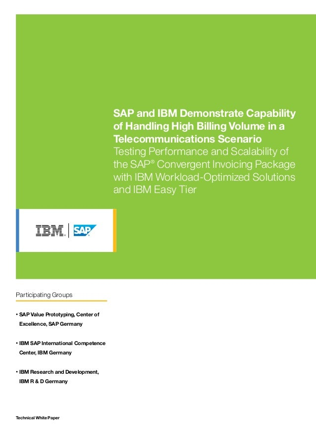 Technical White Paper SAP and IBM Demonstrate Capability of Handling High Billing Volume in a Telecommunications Scenario ...