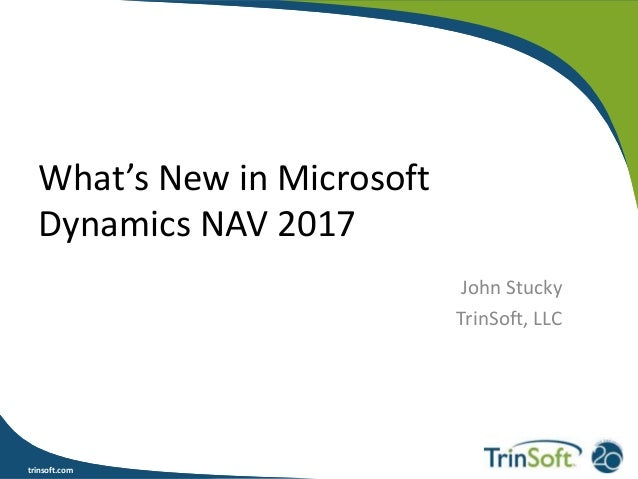What's New in Microsoft Dynamics NAV 2017