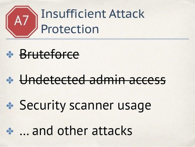 A7 Attack protection Web Application Firewall /profile?name=<script>alert(1)</script>
