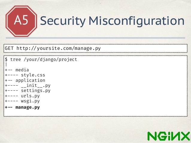 A5 Security Misconfiguration rewrite ^/(.*)/some$ /$1/ last;