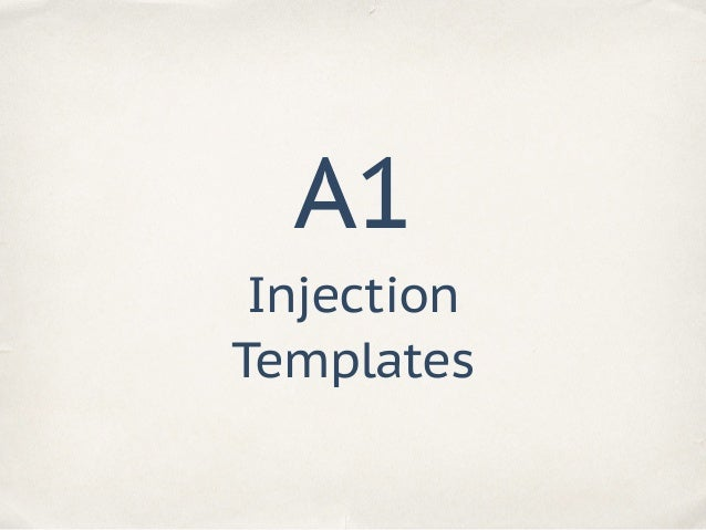 """Injection Templates A1 user = """"{{ '' }}"""" template = 'Hello, {}!'.format(user)"""
