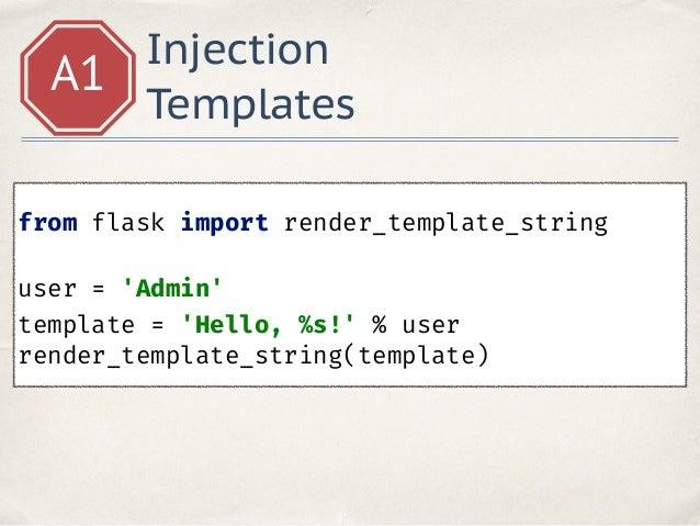Unsafe python 83 injection templates maxwellsz